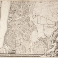 """Section 10 of """"A plan of the cities of London and Westminster, and borough of Southwark, with the contiguous buildings"""" by John Rocque, 1746-1749."""