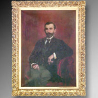 &quot;Benjamin N. Duke, 1894, Oil on canvas, 36&quot;&quot; x 50&quot;&quot;, by Norval H. Busey<br />