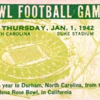 Rose Bowl Ticket, 1942
