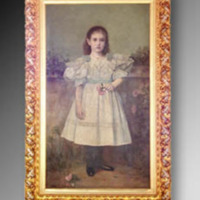 &quot;Mary Duke as Young Girl, 1895, Oil on canvas, 33&quot;&quot; x 59,&quot;&quot; by Norval H. Busey<br />