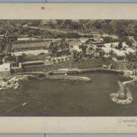 Aerial of Shangri La construction in Honolulu, HI, 1938.