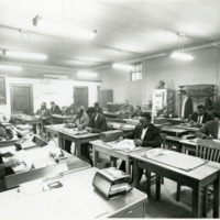 Accounting class for professional development, 1940s