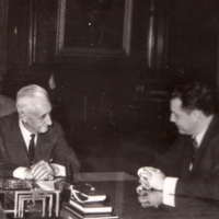 Marshall Meyer and Argentine President Arturo Illia
