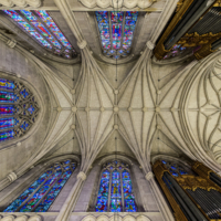 Chancel Ceiling & Aeolian Organ Pipes; Brian Mullins Photography