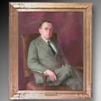 &quot;William K. Boyd, 1932, Oil on canvas, 28&quot;&quot; x 36,&quot;&quot; by Irene Price<br />