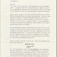 Reynolds Price's letter to William Styron. 22 November 1989.