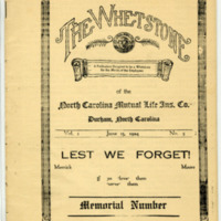 "Cover of the ""Whetstone,"" the employee newsletter, 1924"