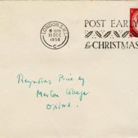 Envelope, Reynolds Price papers, David M. Rubenstein Rare Book & Manuscript Library.