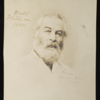 "Gardner. ""Photograph of Walt Whitman, Washington,"" 1863, Walt Whitman Papers, Box 17.<br /><br />"