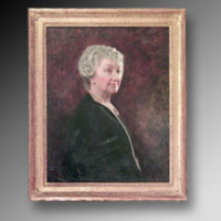 &quot;Sarah P. Duke (Mrs. Benjamin N. Duke), Oil on canvas, 23&quot;&quot; x 29,&quot;&quot; by C.S. Wiltschek<br />