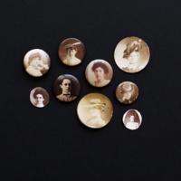HS item 002 Original photo buttons made by Hugh Mangum