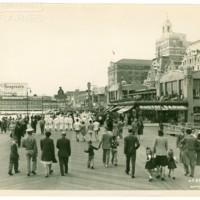 Boardwalk facing Million Dollar Pier. [Seagrams spectacular], circa 1944.<br /> Maxwell No. 6535<br /> ROAD No. XXH1078<br />