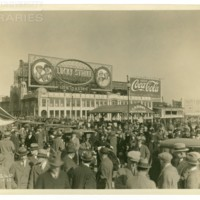 Boardwalk, Central Pier facing west. [Lucky Strike spectacular, daytime], April 5, 1925.<br /> Maxwell No. 2240<br /> ROAD No. XXX1321