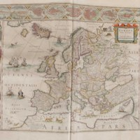 Page from volume 1 of the Willem Blaeu Atlas held by the Rubenstein Library, Duke University. Publication: Amsterdami, apud Iohannem Guilielmi F. Blaeu, 1648-1655.
