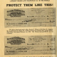 Advertisement displaying insurance payments to Mutual policyholders, 1920