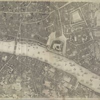"""Section 7 of """"A plan of the cities of London and Westminster, and borough of Southwark, with the contiguous buildings"""" by John Rocque, 1746-1749."""