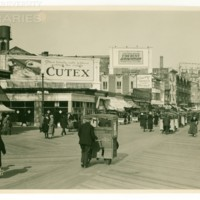 Boardwalk and Kentucky Ave. [Cutex and Maxwell billboards], April 9, 1922.<br /> Maxwell No. 1789<br /> ROAD No. XXX0869