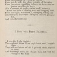 Walt Whitman. Leaves of Grass. New York: [Walt Whitman], 1867.