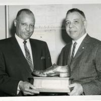 Baltimore agent accepts C.C. Spaulding Award, 1950s