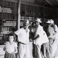 A café and store in Birán, Fidel Castro's home town. Birán lay within the zone of influence of the U.S.-owned United Fruit Company, Holguín Province, December 1963