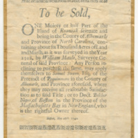 &quot;The David M. Rubenstein Library holds more than 5,000 broadsides among its collections. Many can be found in the large Broadsides &amp; Ephemera collection now available through the Duke University Libraries' Digital Collections:<br /> <br /> library.duke.edu/digitalcollections/broadsides/&quot;