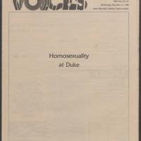 Voices, Chronicle Magazine November 17, 1982