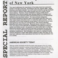 Box 1 Folder Asian Population of New York