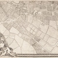 """Section 11 of """"A plan of the cities of London and Westminster, and borough of Southwark, with the contiguous buildings"""" by John Rocque, 1746-1749."""