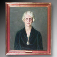 &quot;Eva Earnshaw Malone, 1941, Oil on canvas, 31&quot;&quot; x 35,&quot;&quot; by Otto Herschel<br />