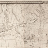 """Section 4 of """"A plan of the cities of London and Westminster, and borough of Southwark, with the contiguous buildings"""" by John Rocque, 1746-1749."""