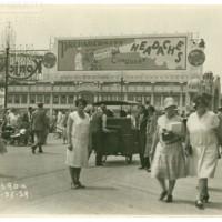 Emerson&#039;s Ginger Mint gum (2 advertisements)<br /> Boardwalk. [Bromo Seltzer billboard], July 25, 1929.<br /> Maxwell No. 2690a<br /> ROAD No. XXX1786
