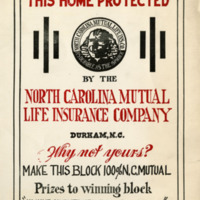 NC Mutual policy promotion material, 1930s