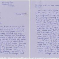 Letter to William Styron. 22 November, 1989.