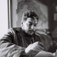 Comandante Ernesto Che Guevara (1928-1967), in his office, Havana, February 1964