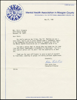 Letter to Chris Sizemore. 27 May 1982.