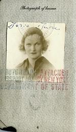 Doris Duke's passport, 1935-1938