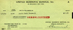 $1.00 check for service, June 6, 1944