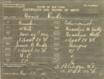 Doris Duke's birth certificate, 1912