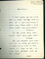 School report by Doris Duke, 1927