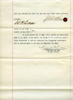Duke Farms Bill of Sale, 1917