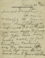 J.B. Duke letter to Doris, 1923