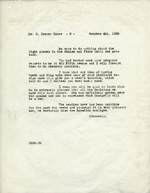 Letter from Jim Cromwell to Drew Baker, October 4, 1938