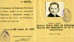 Argentian I.D. card for Mrs. Rubirosa, 1948