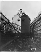 Christening the ship, 1944