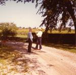 Doris Duke investigating historic homes in Newport, 1970