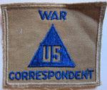 War Correspondent Patch, circa 1945