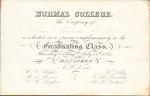 1856 Normal College commencement invitation
