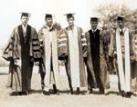 1929 Ph.D. class.  Rose Davis, center.