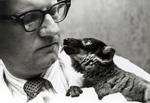 Dr. John Buettner-Janusch and lemur
