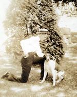 President John C. Kilgo and his dog